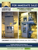 FOR IMMEDIATE SALE - CINCINNATI HYDROFORM HYDRAULIC PRESS