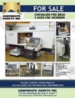 FOR IMMEDIATE SALE - CHEVALIER FSG-B818 3 AXIS CNC GRINDER