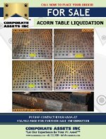 "FOR IMMEDIATE SALE - (100+) 5' x 5' x 6"" ACORN TABLES"