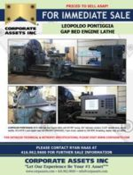 FOR IMMEDIATE SALE - LEOPOLDO PONTIGGIA GAP BED ENGINE LATHE