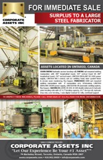 SURPLUS TO A LARGE STEEL FABRICATOR