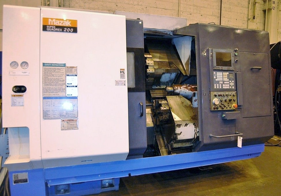MAZAK Super Quadrex 200 4-Axis CNC Turning Center Image