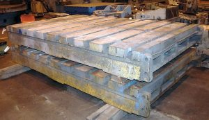 "(5) 72"" x 120"" x 13"" T-Slotted Cast Iron Floor Plates Image"