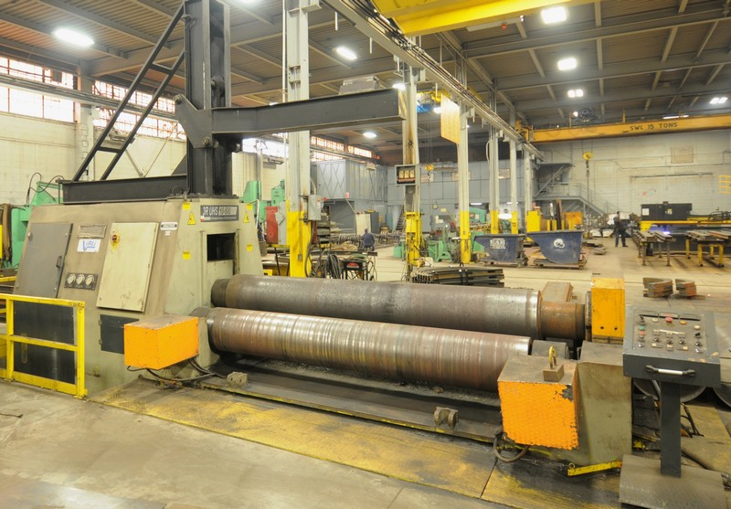 SAHINLER 3R UHS 10-500 double initial pinch hydraulic plate bending rolls Image