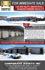 120,000 SQ FT. Industrial/Manufacturing Facility
