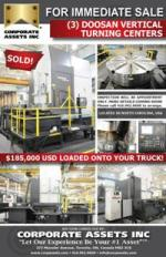 FOR IMMEDIATE SALE - (3) DOOSAN Vertical Turning Centers