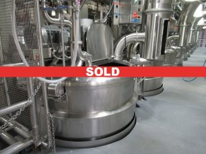 CS051 – Bank of (10) 500 gallon cook & mix kettles,