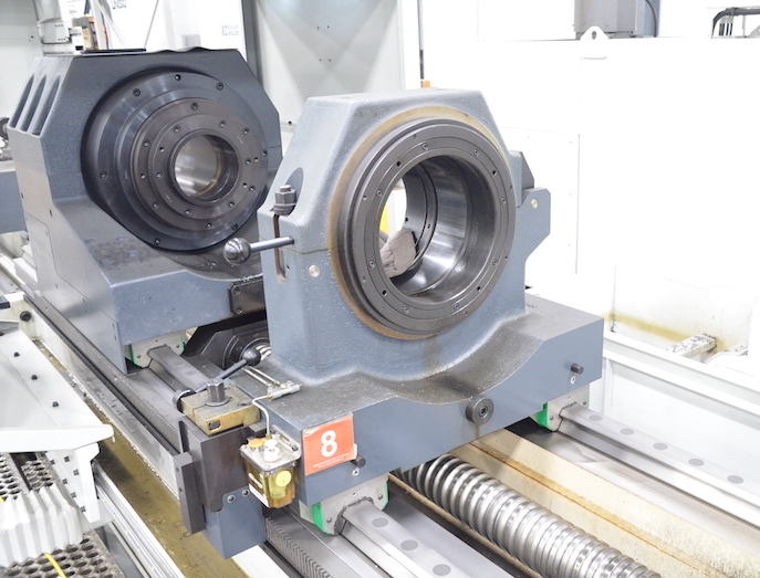 UNISIG CNC controlled drilling headstock & steady rest