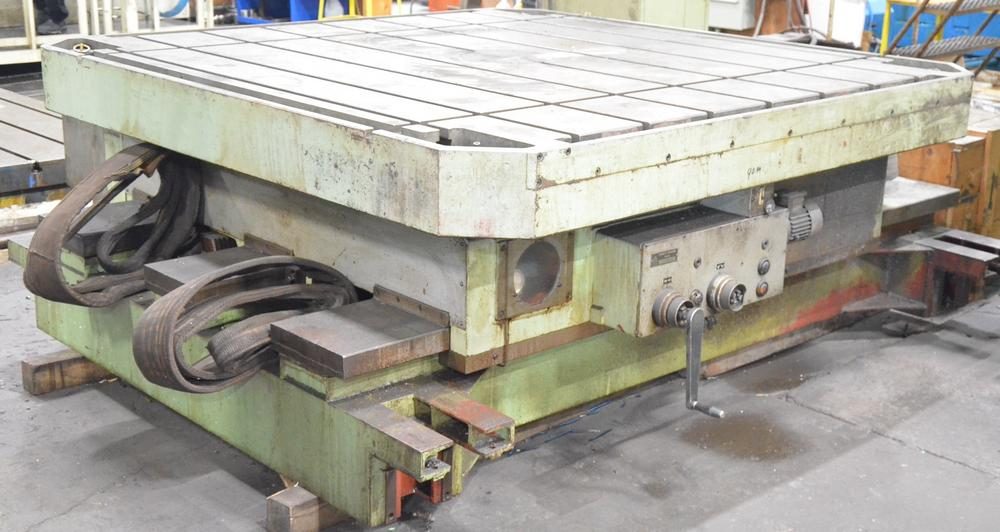 """TOS ISO 16 power rotary table with 80""""x80"""" table"""
